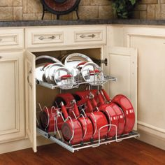 Rev-a-Shelf 5CW2-1222-CR 12 in. Two-Tier Cookware Organizer - Kitchen Cabinet Organizers at Hayneedle