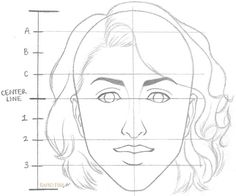 Drawing Faces Techniques How to Draw a Female Face Step 8 - Learn how to draw a face with correct proportions in 8 simple steps. You can easily draw faces without using a reference photo if you just remember a few key Drawing Proportions, Drawing Skills, Drawing Techniques, Drawing Ideas, Painting & Drawing, Figure Drawing, Female Face Drawing, Woman Drawing, Side View Of Face