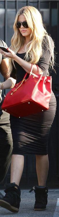 Khloe Kardashian: Sunglasses – Porsche Shoes – Isabel Marant Purse – Hermes