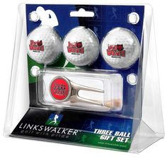 Arkansas State Red Wolves - Cap Tool 3 Ball Gift Pack