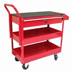 Excel Rubber Top Tool Cart with Drawer - TheExcel Rubber Top Tool Cart with  Drawer features two open trays for storing and transporting tools and  supplies. f8d6ad269304
