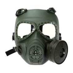 Anti Fog Turbo Fan System Full Face Protector Mask for Airsoft Wargame Paintball Outdoor Activities-Army green Airsoft Gas Mask, Airsoft Full Face Mask, Airsoft Guns, Paintball Field, Paintball Gear, Halloween Masquerade, Half Face Mask, Fan, Nuclear War