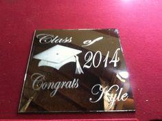 Graduation personalized mirror