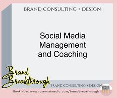 SOCIAL MEDIA MANAGEMENT AND COACHING // Elevate your business and increase visibility by leveling up your DIY or by letting us handle it…