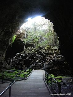 Undara Volcanic National Park, North Qld. / Notable for its lava tubes regarded amongst the largest and longest on the planet.  Gem fossicking, minerals found there include topaz, moonstone, peridot, aquamarine, garnet, quartz & gold. The Park is remote, situated within the McBride volcanic province, and contains 164 volcanoes, vents and cones, including the Earth's longest flow of lava originating from a single volcano. / Accessible from Townsville or Cairns./ by Ladymaggic, via Flickr