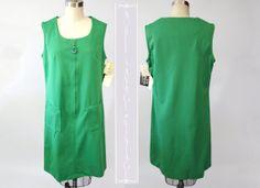 1960's Mod ALine Zip Front Jeanne West Dress by NobleSavageVintage, $45.00