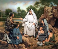 Hear Ye Him by artist Simon Dewey depicts Jesus teaching the people and can be purchased in paper and canvas reproductions on sale at Christ-Centered Art. Pictures Of Christ, Bible Pictures, Christian Humor, Christian Art, Christian Images, Christian Church, Arte Lds, Simon Dewey, Parables Of Jesus