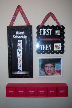 """This kind of visual schedule """"command center"""" makes so much more sense. I will be doing something similar in both of my babes' rooms."""
