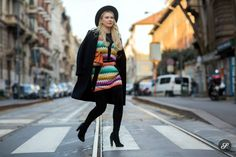 splashing some colour around in Milan. Street Style 2016, Street Style Women, Milan, Photography, Colour, Fashion, Moda, La Mode, Color