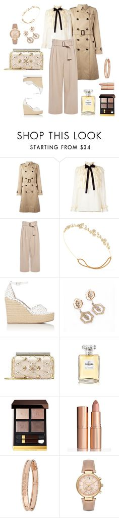 """Classic Sunday Look"" by charlottes-styles on Polyvore featuring mode, Burberry, Gucci, A.L.C., Jennifer Behr, Tabitha Simmons, Oscar de la Renta, Chanel, Tom Ford en Charlotte Tilbury"