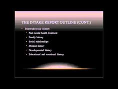 Counseling Intake Report Writing