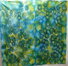 Uta Lenk - justquilts: Ice-cube dyeing
