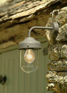 Outdoor Wall Lighting - Wall Mounted Exterior Barn Lamp in Coffee Barn Lighting, Outdoor Wall Lighting, Outdoor Walls, Barn House Decor, Porch Extension, Extension Ideas, Garden Wall Lights, Porch Wall, Front Door Porch