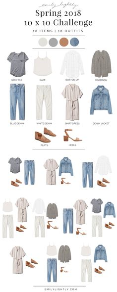 Summer Fashion Tips Spring 2018 10 x 10 challenge recap - Emily Lightly // minimalist style capsule wardrobe slow fashion.Summer Fashion Tips Spring 2018 10 x 10 challenge recap - Emily Lightly // minimalist style capsule wardrobe slow fashion Slow Fashion, Trendy Fashion, Fashion Spring, Style Fashion, Womens Fashion, Fashion Fashion, Korean Fashion, Spring 2018 Fashion Trends, Feminine Fashion
