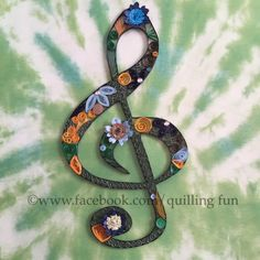 Quilled Treble Clef II