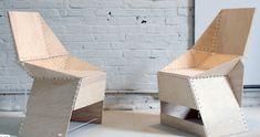 Voici une idée originale pour concevoir une assise à partir d'une seule planche de contreplaqué et d'attaches en plastique.    Une chaise http://www.flemarie.fr/blog/2013/10/coup-coeur-chaise-fabriquee-seul-morceau-contreplaque/