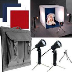 Deluxe Table Top Photo Studio - Photo Light Box - SkyMall $50