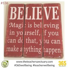 #136/365 #365wellbeing  BELIEVE....  Magic is believing in yourself, if you can do that, you can make anything happen #TopTips #TakeTheOxygenFirst #TeacherWellbeing #TheTeacherSanctuary #EveryTeacherMatters #KathrynLovewell l#Believe #KindMind #Happiness #MagicHappens #Magic