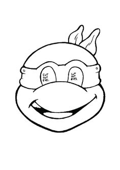 ninja turtle mask coloring page more cakepins.com | tortugas ninja ... - Ninja Turtles Face Coloring Pages