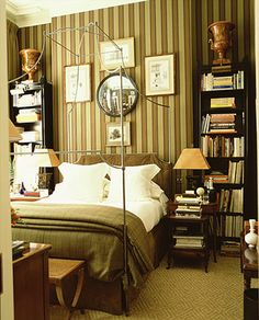 Bedroom Bookcases with Side Tables in Front
