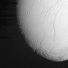 Close view of Saturn's moon Enceladus from Oct. 28 flyby.
