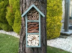 bee and insect hotel- I think we need to build one of these!