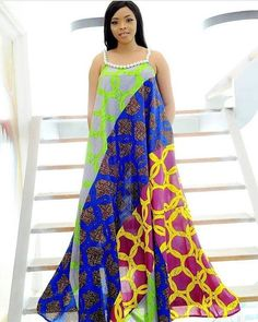 """Today we bring to you """"Ankara Long Gowns for Beautiful Ladies."""" Ankara gowns are always beautiful but so beautiful when it's a long Ankara. Long African Dresses, Ankara Short Gown Styles, Latest African Fashion Dresses, African Print Fashion, Africa Fashion, Ankara Fashion, African Prints, Lace Gown Styles, Dress Styles"""
