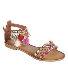 Tan Ankle-Strap Festive Gladiator Sandal