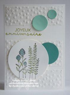 Bonjour,   Beaucoup d'anniversaire à féter en ce mois de mars, voici donc une petite carte toute fraiche avec ce sublime tampon fleuri que v...