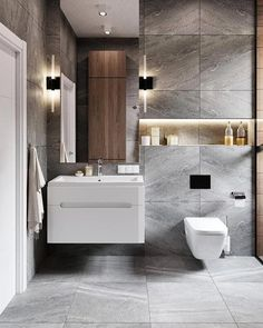 """Browse photos of Small Bathroom Tile Design. Find suggestions and inspiration for Small Bathroom Tile Design to enhance your own home. Bathroom Goals, Bathroom Trends, Bathroom Renovations, Bathroom Organization, Bathroom Ideas, Bathroom Design Luxury, Modern Bathroom Design, Washroom Design, Modern White Bathroom"