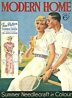 Modern Home, Tennis, 1936 #illustration  Posted on lordprice.co.uk