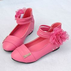 Deep Pink Rose Flower Pageant Girl Girls Kids Party Dress Shoes Store SKU-133116