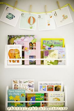Library wall - a must-have in the nursery!