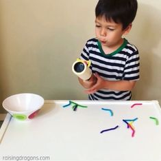 Lint Roller Worm Pick Up * ages 1-3 ⋆ Raising Dragons