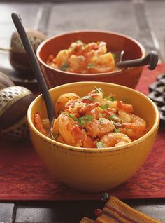 Recette de Ricardo de Cari de crevettes.  Ces crevettes épicées à l'indienne…