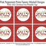 FREEBIE: Free Printable Christmas Tags: Have a Holly Jolly Christmas - Entertain | Fun DIY Party Craft Ideas