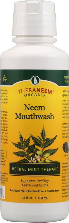 Organix South TheraNeem® Neem Mouthwash Herbal Mint Therapé