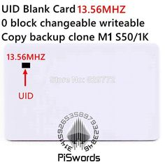 UID rewrite changeable nfc card with mutable writeable for nfc chinese magic card copy clone crack hack Hacks, Writing, Products, Chinese, Tips