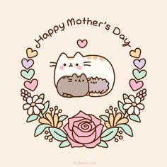 Aliexpress Kawaii Shopping: Pusheen the Cat! Cute (and cheap) Stuff! Happy Mothers Day Images, Mothers Day Quotes, Love Mom, Cute Love, I Love My Mother, Pusheen Stormy, Pusheen Love, Pusheen Gif, Pusheen Stuff