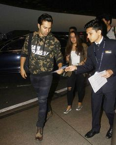 """""""Varun Dhawan and his girlfriend Natasha Dalal sanpped as they depart for a holiday. Much overdue! …"""""""