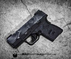 Black MAD Dragon Camo on a @springfieldarmoryinc XDS. #cerakoteMADness #camo Xd Springfield, Guns And Ammo, Self Defense, Firearms, Hand Guns, Camo, Dragon, 2nd Amendment, Everyday Carry