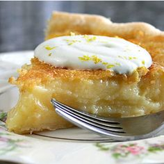 Awwwww.....Lemon Chess Pie - My grandmother made this for me every birthday......i miss her so much!