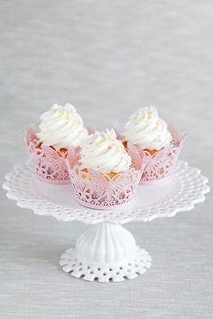 géranium bourbon cupcakes//