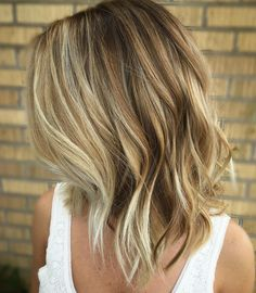 Bronde Bob With White Blonde Highlights