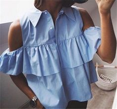 0b5a7b90c865 Heyoungirl2016 Causal Summer Women Chiffon Blouses Off Shoulder Women Shirt  Flounced Chiffon Women Tops Blusas Camisas