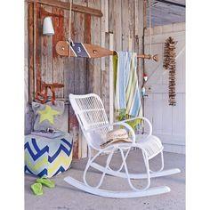 Outdoor-Schaukelstuhl, Shabby Chic, Kunststoffrattan Katalogbild