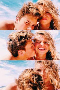 Cute couple selfies on the beach 💙 Cute Couples Photos, Cute Couple Pictures, Cute Couples Goals, Cute Photos, Couple Pics, Couple Things, Couples At The Beach, Cute Couple Selfies, Couple Beach