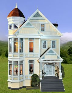 victorian dollhouses   Victorian dollhouse   Dollhouses and Miniatures