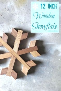 how to make geometric wooden snowflakes, christmas decorations, crafts, how to, seasonal holiday decor, woodworking projects #WoodworkProjects