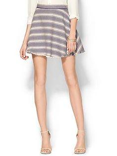 Greylin Travis Tweed Stripe Skirt   Piperlime
